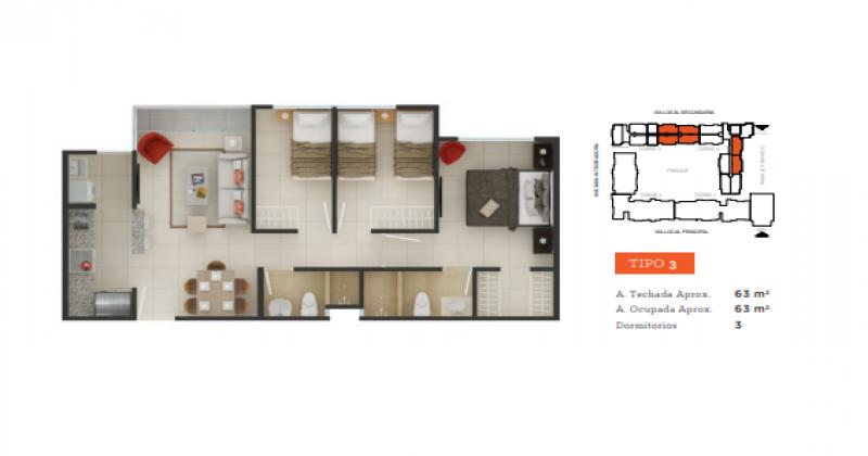 S/N Avenida Tallanes, Piura, Piura, 3 Habitaciones Habitaciones, ,2 BathroomsBathrooms,Departamento,Venta,Garden360,Avenida Tallanes,1150