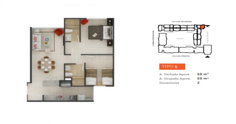 S/N Prolongación Tallanes, Piura, Piura, 2 Habitaciones Habitaciones, ,2 BathroomsBathrooms,Departamento,Venta,Garden 360,Prolongación Tallanes,1152