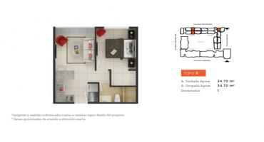 Prolongación Tallanes S/N, Piura, Piura, Perú, 1 Dormitorio Habitaciones, ,1 BañoBathrooms,Departamento,Venta,Garden 360,Prolongación Tallanes,1153