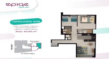Avenida Manuel Olguin 600, Santiago de Surco, Lima, Perú, 2 Habitaciones Habitaciones, ,2 BathroomsBathrooms,Departamento,Venta,Epiqe,Avenida Manuel Olguin,22,1224